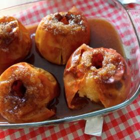 Pommes gourmandes au four (cannelle et vanille)