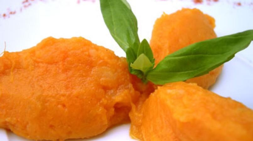 Purée de patates douce