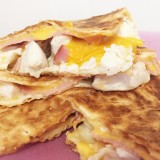 Quesadillas poulet bacon cheddar