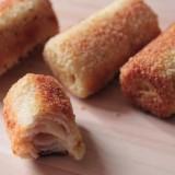 Roulés croustillants jambon fromage
