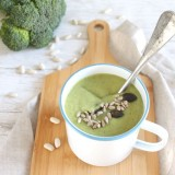 Soupe express brocolis-haricots blancs