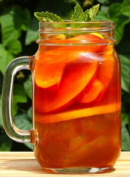 Peach ice tea whiskey